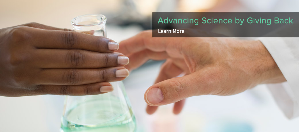 Advancing Science by Giving Back