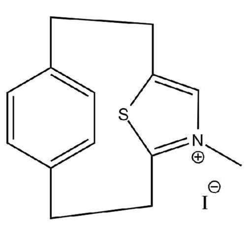 [2.2](2,5)Thiazolium(1,4)paracyclophane Iodide (15-Thia-5-aza-5-N,methyltricyclo[8.2.1.1^(4,7)]pentadeca-4,6,10,12,13-pentaene Iodide)