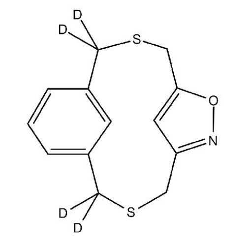 [3.3]Dithia(3,5)isoxazolo(1,3)metacyclophane (6-Oxa-3,10-dithia-7-azatricyclo[10.3.1.1^(5,8)]heptadeca-1(16),5(17),7,12,14-pentaene-2,2,11,11-d4)