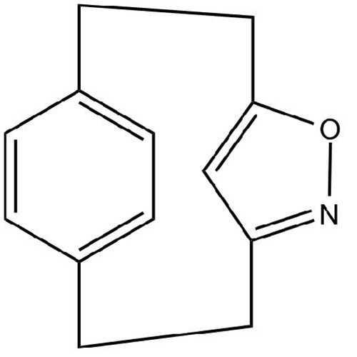 [2.2](3,5)isoxazolo(1,4)paracyclophane (5-Oxa-6-azatricyclo[8.2.1.1^(4,7)]pentadeca-4(15),6,10,12,13-pentaene)