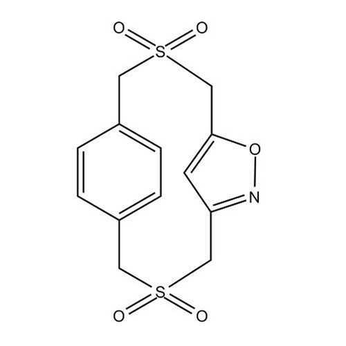[3.3]Disulphono(3,5)Isoxazolo(1,4)paracyclophane (6-Oxa-3,10-dithia-7-azatricyclo [10.2.2.1^(5,8)]heptadeca-5(17),7,12,14,15-pentaene-3,3,10,10-tetraoxide)