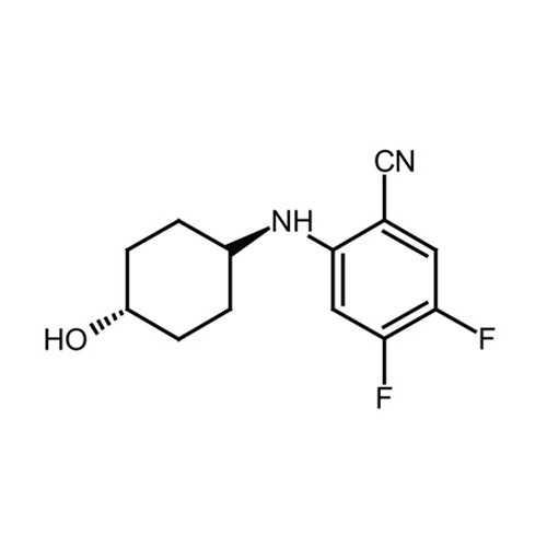 4,5-difluoro-2-[(trans-4-hydroxycyclohexyl)amino]benzonitrile