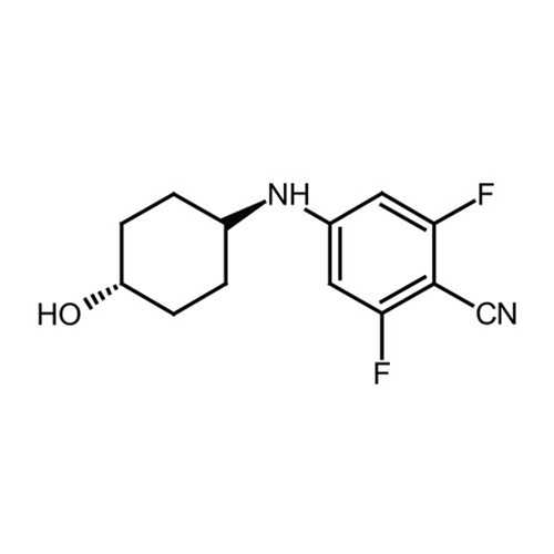 2,6-difluoro-4-[(trans-4-hydroxycyclohexyl)amino]benzonitrile