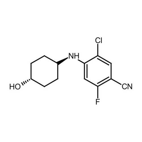 5-chloro-2-fluoro-4-[(trans-4-hydroxycyclohexyl)amino]benzonitrile