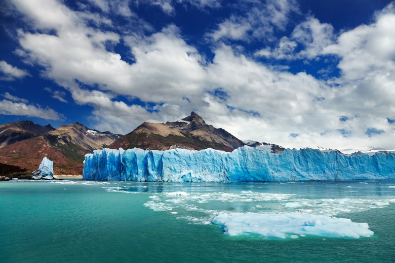 As global temperatures rise, glaciers disappear.